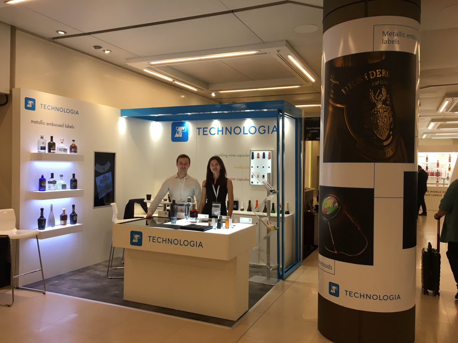 Our booth at the exhibition LUXE PACK, Monaco